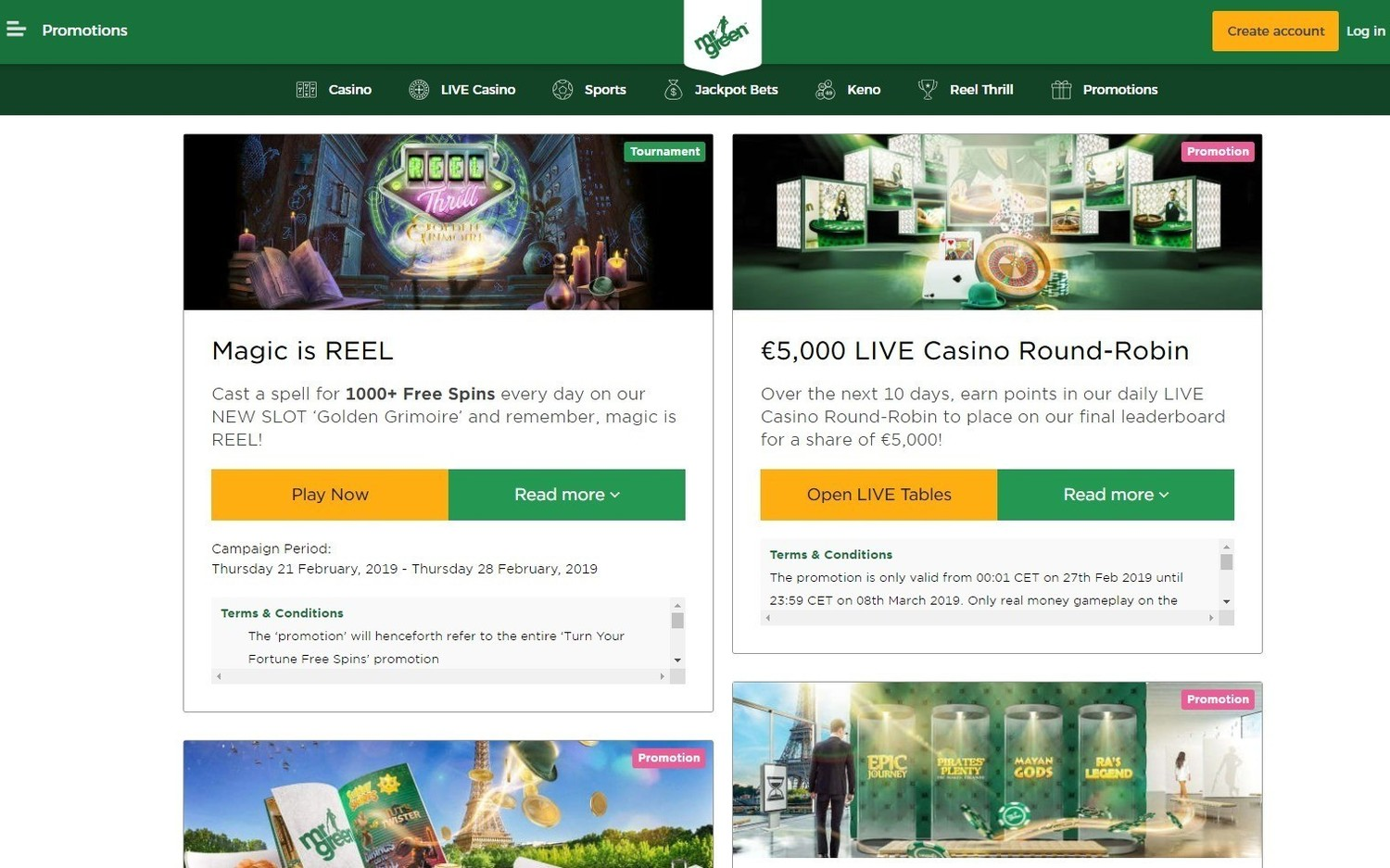 MrGreen casino review, promotions and bonus codes