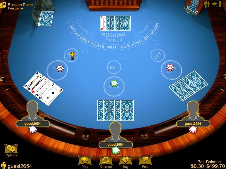 на онлайн руском покер
